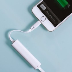 Thumbs Up iPhone Emergency Charger + Power Bank White