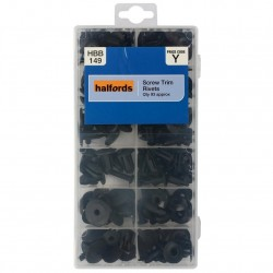 Halfords Assorted Screw Trim Rivets