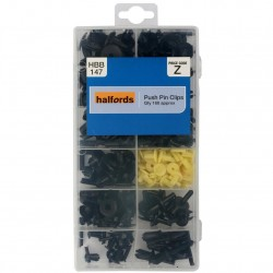 Halfords Assorted Push Pin Clips