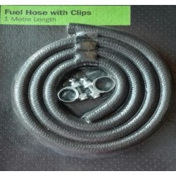 Halfords Fuel Hose with Clips 1 metre long 8mm diameter