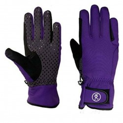 Riders Trend Equestian Soft Shell Riding Gloves Purple/Grey