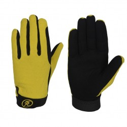 Riders Trend Every Day Equestian Riding Gloves Black/Yellow Child Small