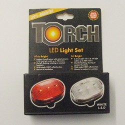 Torch 4032 Front and Rear L.E.D Light Set Red White LED Lights To Clear