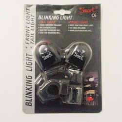 Smart Blinking Front and Rear LED Lights Set To Clear