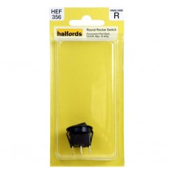 Halfords Round Rocker Switch 10 Amp Illuminated Red Spot On/Off HEF356
