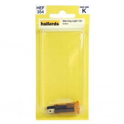 Halfords Round Warning Light 12V Amber Interior Lighting Indicator HEF354