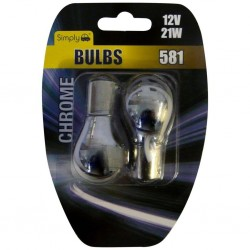 Simply S581C Chrome Bulb 12V 21W