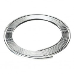 Halfords Chrome Trim 8mm D Section Complete with 3M Tape