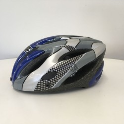 LA Sports Pro + Blue/Gey/Silver/Check Childs/Kids Helmet