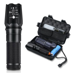 4000LM Tactical Zoomable Flashlight Torch 5000mAh Battery
