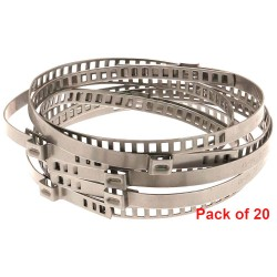 Connect CV Boot Clamp 7 x 245mm Stainless Steel Pack of 20