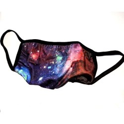 Galaxy Space Print Face Mask Large
