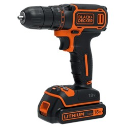 Black and Decker 18V Lithium-ion Drill Driver 200mA charger 1 battery