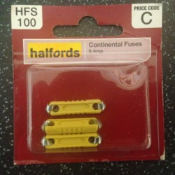 Halfords Continental Fuses 5A Yellow (3 pack)