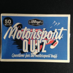 STOCKING FILLER - Motorsport Quiz - 100mph Fun and Games